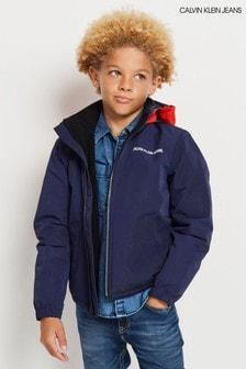 Calvin Klein Jeans Blue Reversible Hood Jacket