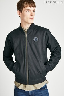 Jack Wills Black Rame Padded Bomber