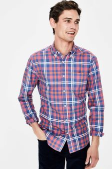 Boden Pink Slim Fit Casual Twill Shirt