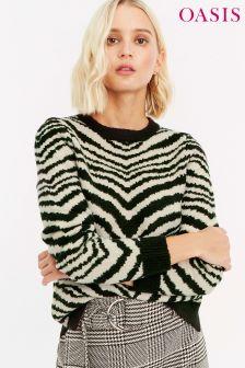 26a501a2bfc732 Oasis Black White Tabitha Tiger Shirt