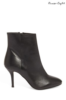 Phase Eight Black Grecy Leather Ankle Boot