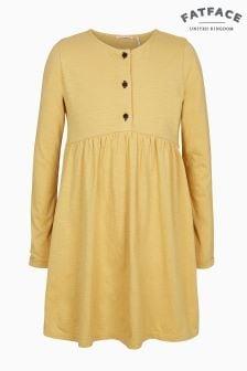 FatFace Yellow Grace Plain Dress