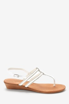 Low Wedges With Toe Post