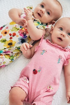 2 Pack Jersey Rompers (0mths-2yrs)