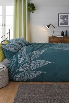 Juniper Leaf Duvet Cover and Pillowcase Set
