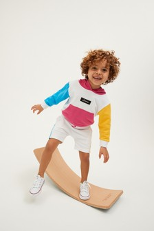 Jersey Colourblock Hoodie And Shorts Set (3mths-7yrs)