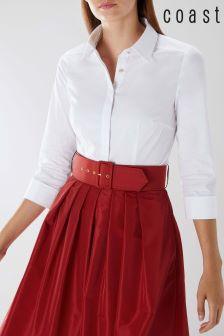 Coast White Livia 3/4 Sleeve Shirt