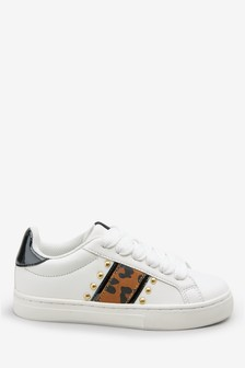 Animal Stripe Lace-Up Trainers (Older)