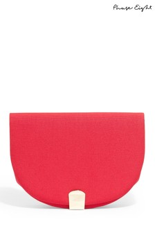 Phase Eight Raspberry Tilly Clutch