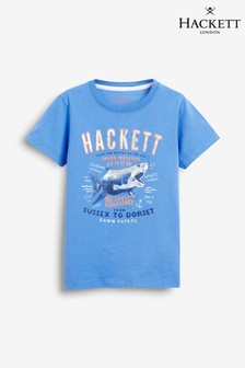 Hackett Blue Shark Print Short Sleeve Tee