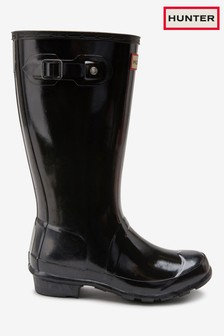 Hunter Women's Black Gloss Original Welly