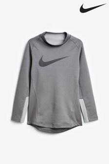 Nike Therma Grey Long Sleeve Base Layer