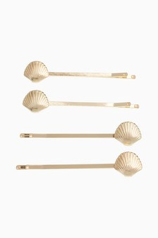 Shell Hair Slides Four Pack