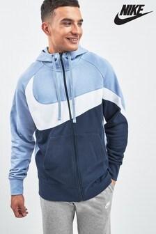 Nike Navy/Blue Raglan Zip Through Hoody
