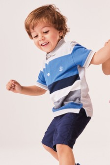 Short Sleeve Stripe Polo (3mths-7yrs)
