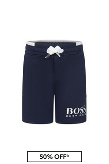 Boss Kidswear BOSS Baby Boys Navy Cotton Shorts