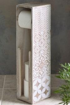Soporte para papel higiénico con estampado de mosaico