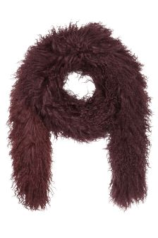 Jigsaw Wine Sheepskin Scarf