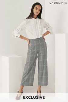 Mix/Teija Check Cropped Trouser