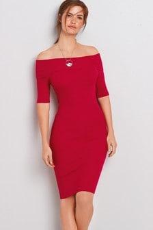 Bardot Rib Dress
