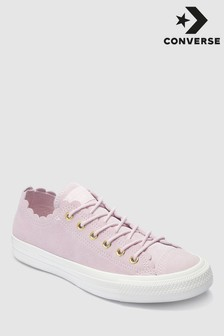 Converse Leather Frill Ox Trainer