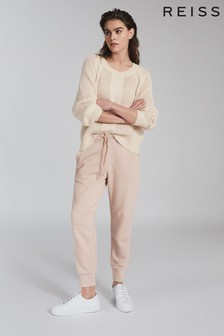 Reiss Cream Ria Wool Blend Open Knit Jumper