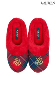 Lauren Ralph Lauren® Red Plaid Slippers
