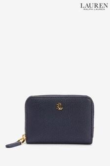 Ralph Lauren Navy Pebble Leather  Zip Purse