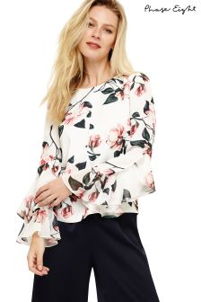 Phase Eight Ivory Multi Heather Floral Blouse