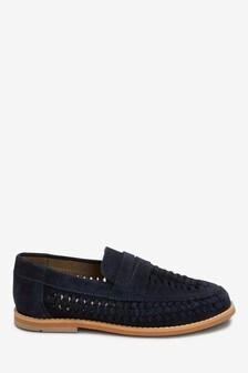 Замшевые туфли с плетеной отделкой (Подростки)