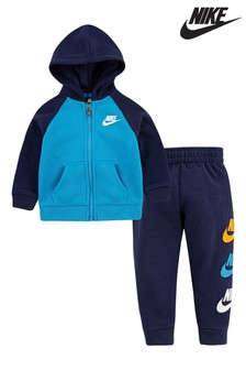 Nike Infant Navy Zip Through Hoody And Joggers Set