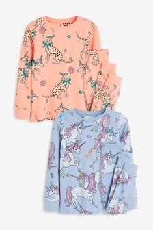 2 Pack Character Jersey Snuggle Pyjamas (3-16yrs)