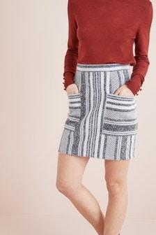 Stripe Mini Skirt