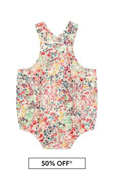 Bonpoint Baby Girls Multi Cotton Romper