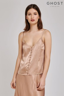 Ghost London Natural Melly Satin Cami