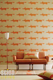 Scion Mr Fox Ginger Wallpaper