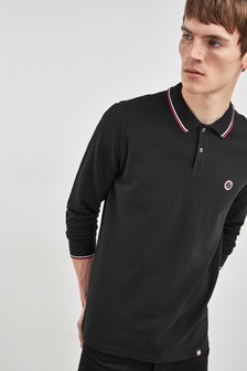 Pretty Green Hartford Long Sleeve Polo
