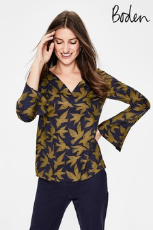 Boden Yellow Lucie Top