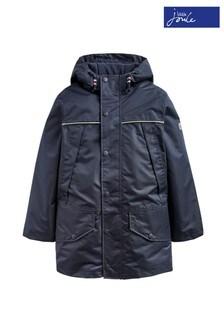 Joules Blue Playground Waterproof School Coat