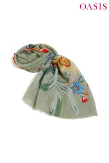 Oasis Green Olivia Floral Scarf