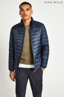 Jack Wills Navy Nevis Lightweight Down Jacket