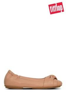 FitFlop™ Pink Ruche Twist New Ballerina
