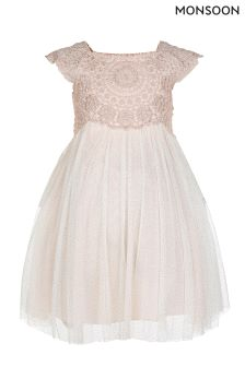 Monsoon Pink Baby Estella Sparkle Dress