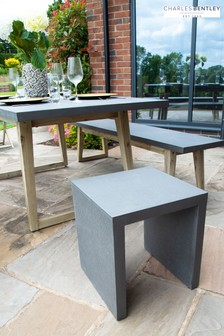 Salvage Fibre Concrete Garden Stool by Charles Bentley