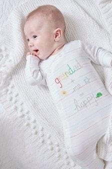 Grandad Slogan Embroidered Sleepsuit (5-18mths)