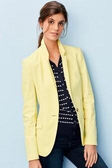 Cotton Linen Blend Blazer