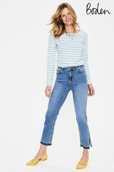 ג'ינס עם שסע בצד של Boden דגם Salisbury בכחול ג'ינס