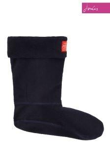 Joules Blue Fleece Molly Welly Sock