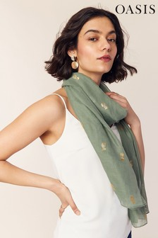 Oasis Green Pineapple Foil Scarf