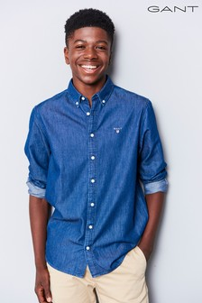GANT Teen Mid Wash Denim Shirt